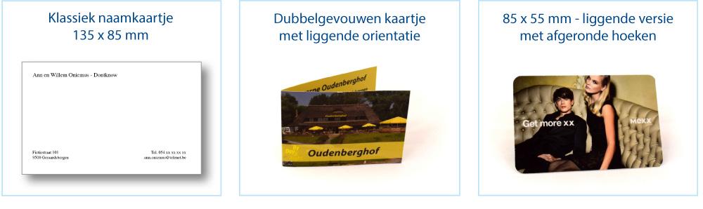 Drukkerij Van De Maele Naamkaartjes Liggend Orientatie